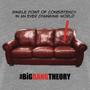 The Big Bang Theory Le sofa de Sheldon Tee shirt P - T-shirt Premium Femme