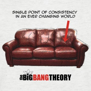 The Big Bang Theory Sheldon's Couch herre T-Shirt  - Herre T-shirt med V-udskæring