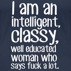 Well Educated Woman T-Shirts - Women's Premium T-Shirt