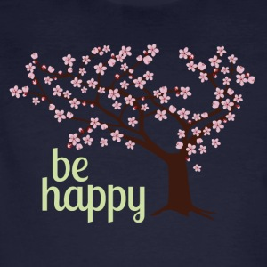Be happy - Männer Bio-T-Shirt