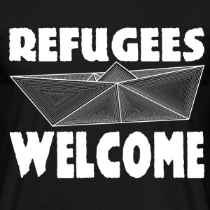 Refugees WELCOME Männer-Shirt - Männer T-Shirt