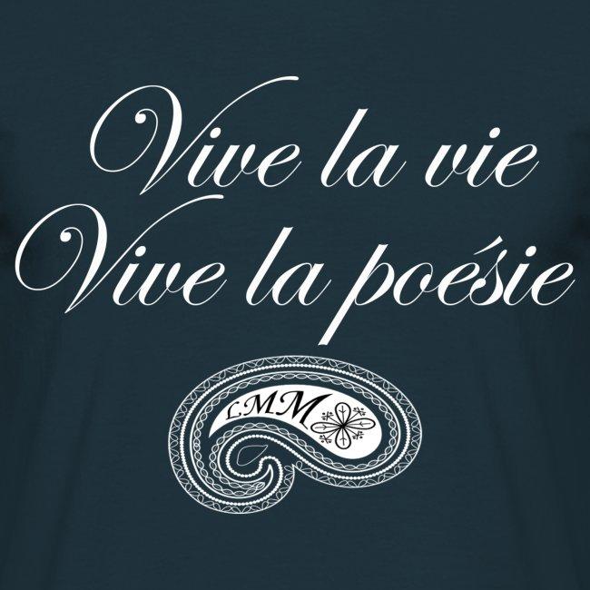 Style - Panache - Liberté   T-shirt homme bleu marine Vive la poésie ... 9a86005703eb