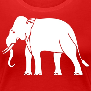 Siamese Asian Elephant T-Shirts - Women's Premium T-Shirt