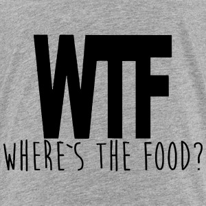 WTF - WHERE IS THE FOOD? Camisetas - Camiseta premium niño