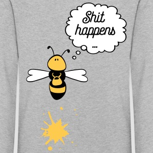 Shit happens bee Long Sleeve Shirts - Kids' Premium Longsleeve Shirt