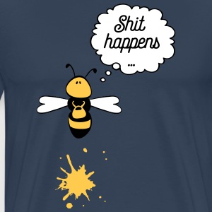 Shit happens bee T-shirts - Premium-T-shirt herr
