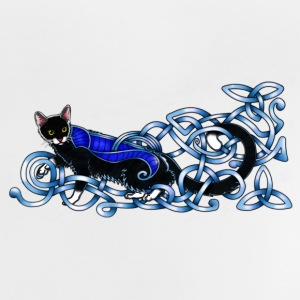 Celtic Cat - silver/blue Baby Shirts  - Baby T-Shirt