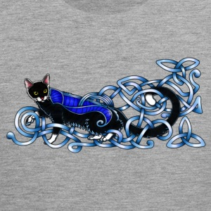 Celtic Cat - silver/blue Sports wear - Men's Premium Tank Top