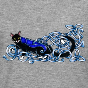 Celtic Cat - silver/blue Long sleeve shirts - Men's Premium Longsleeve Shirt