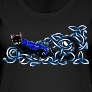 Celtic Cat - silver/blue Tops - Women's Organic Tank Top