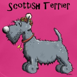 Happy Scottish Terrier Accessories - Baby Organic Bib