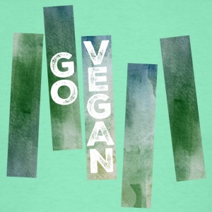 Go Vegan (Watercolor Stripes) T-Shirts - Men's T-Shirt