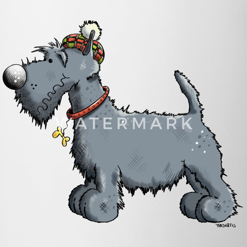 Divertente Scottish terrier Tazze & Accessori - Tazze bicolor