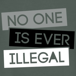No one is illegal 3C T-Shirts - Männer Bio-T-Shirt