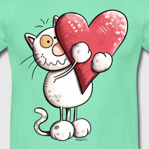 Chat avec coeur Tee shirts - T-shirt Homme