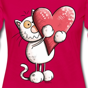 Cat with heart Long Sleeve Shirts - Women's Premium Longsleeve Shirt