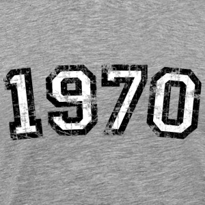 Year 1970 Birthday Design Vintage Anniversary T-Shirts - Men's Premium T-Shirt