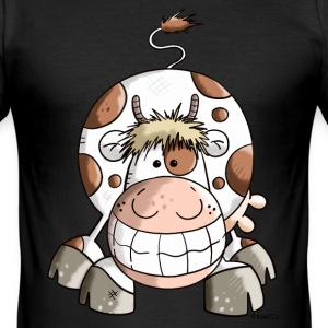 Happy Cow T-Shirts - Men's Slim Fit T-Shirt
