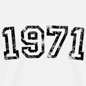 Year 1971 Birthday Design Vintage Anniversary T-Shirts - Men's Premium T-Shirt