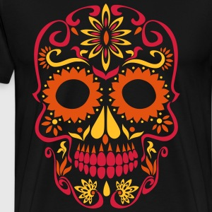 sugar skull day of the dead T-Shirts - Men's Premium T-Shirt