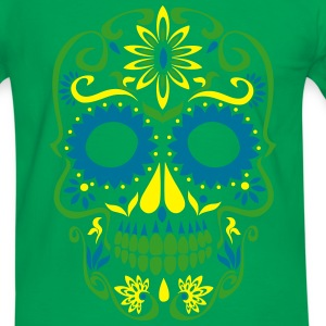 sugar skull day of the dead T-Shirts - Men's Ringer Shirt