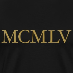 MCMLV Vintage 1955 Roman Birthday Year T-Shirts