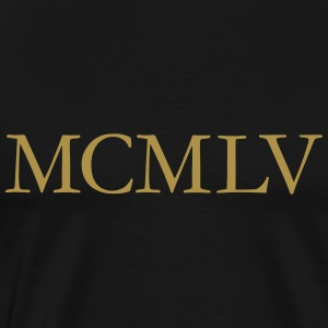 MCMLV Vintage 1955 Roman Birthday Year T-Shirts - Men's Premium T-Shirt