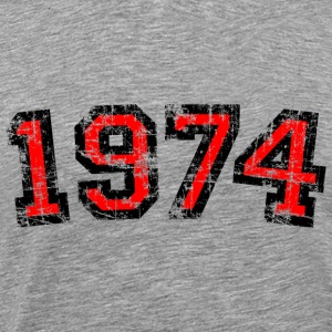 Year 1974 Birthday Design Vintage Anniversary T-Shirts - Men's Premium T-Shirt