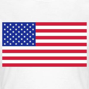 Nationale flag USA T-shirts - Dame-T-shirt