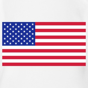 Nationalflagge von USA T-Shirts - Baby Bio-Kurzarm-Body