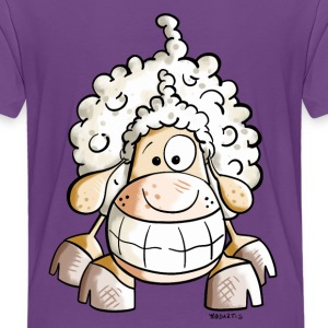Smiling Sheep Shirts - Teenage Premium T-Shirt