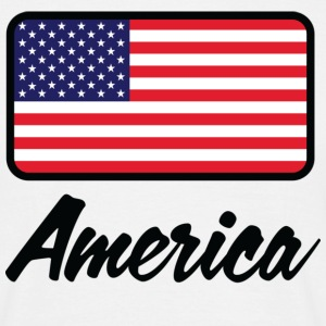 Nationale flag of America T-shirts - Herre-T-shirt