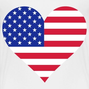 A heart for America Shirts - Teenage Premium T-Shirt