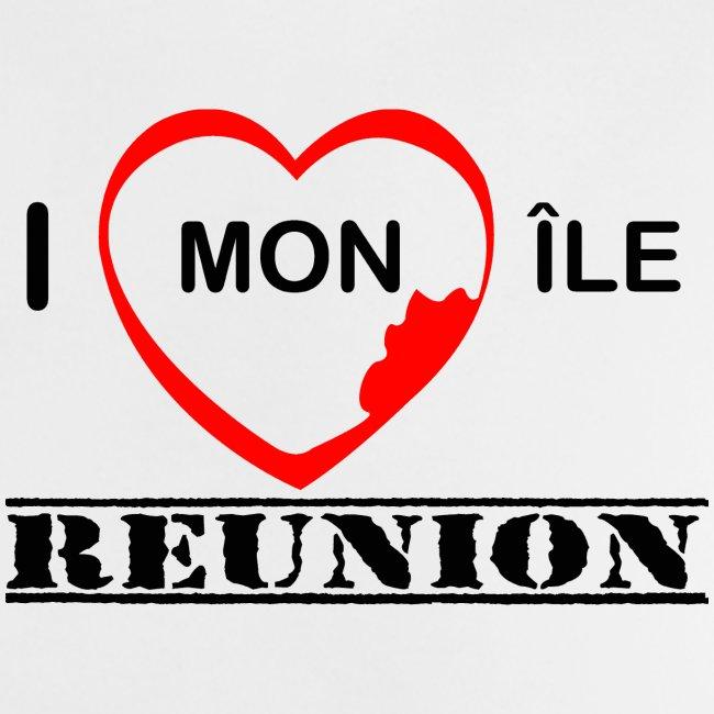 Tee shirt Bébé J'aime mon ile - Réunion