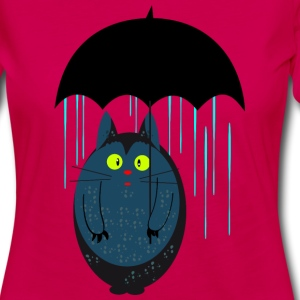 Cat with umbrella Long Sleeve Shirts - Women's Premium Longsleeve Shirt
