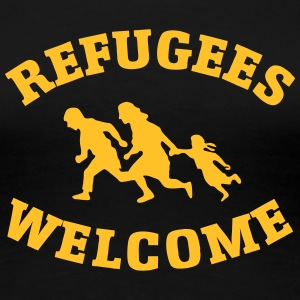 Refugees Welcome T-shirts - Dame premium T-shirt