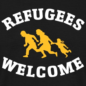 Refugees Welcome T-shirts - Mannen T-shirt