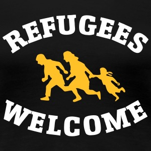 Refugees Welcome T-shirts - Premium-T-shirt dam