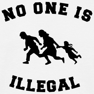 no one is illegal Camisetas - Camiseta hombre