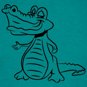 Crocodile lurking dangerously T-Shirts - Men's T-Shirt