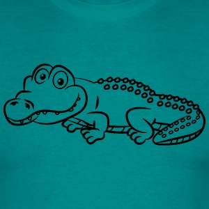 Crocodile funny evil T-Shirts - Men's T-Shirt