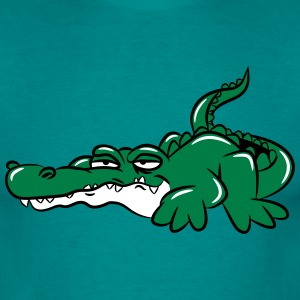 Crocodile funny weed joint T-Shirts - Men's T-Shirt