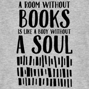 A Room Without Books Is Like A Body Without Soul Camisetas - Camiseta ecológica hombre