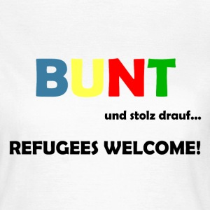 Refugees Welcome T-Shirts - Frauen T-Shirt