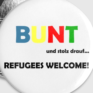 Refugees Welcome Buttons & Anstecker - Buttons groß 56 mm