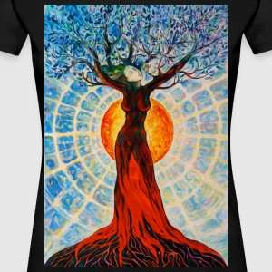 Tree of Life Lebensbaum FREUDE Beauty Art T-Shirt - Frauen Premium T-Shirt