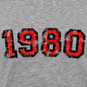 Year 1980 Birthday Design Vintage Anniversary T-Shirts - Men's Premium T-Shirt