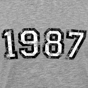 Year 1987 Birthday Design Vintage Anniversary T-Shirts - Men's Premium T-Shirt