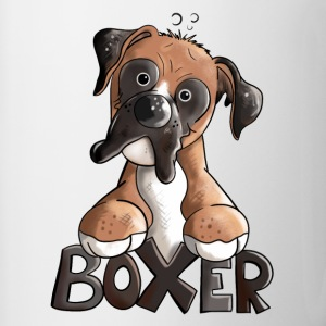 Bosco the Boxer Mugs & Drinkware - Contrasting Mug