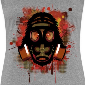 Urban Monkey with Gas mask Fallout T-Shirts - Women's Premium T-Shirt